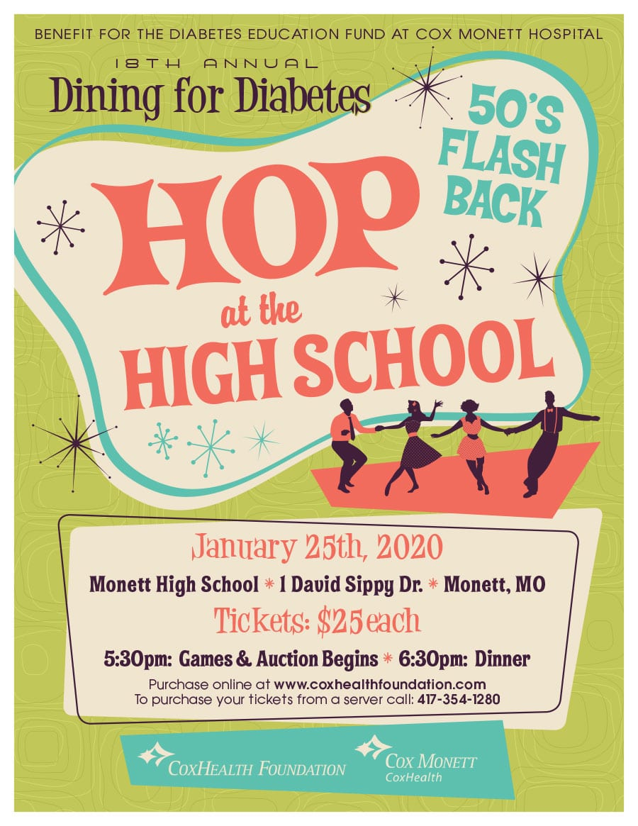 Dining for Diabetes 2020 - Hope at the High School