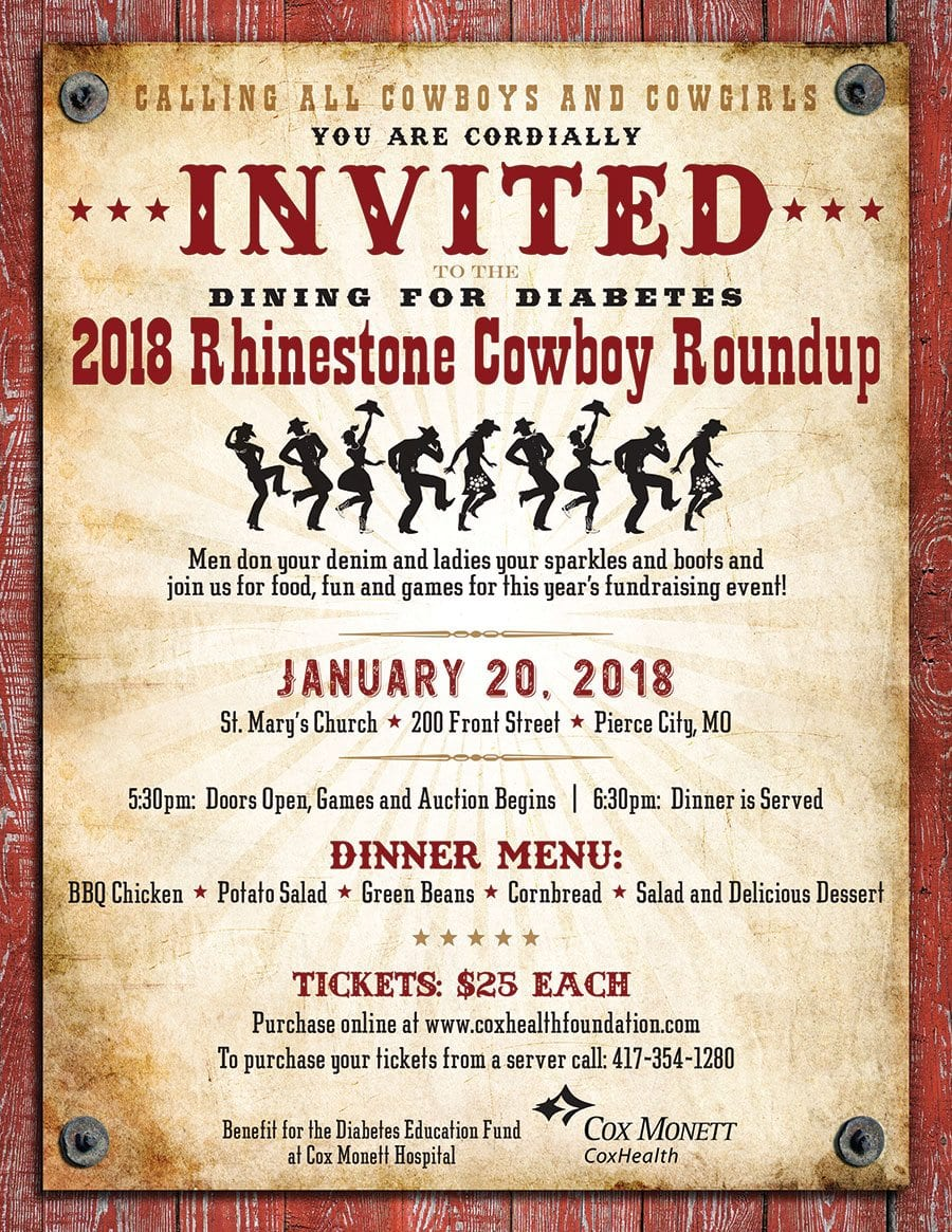 Dining for Diabetes 2018 - Rhinestone Cowboy Roundup