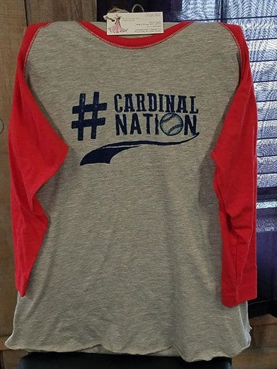 Cardinal Nation t-shirt donated by Vintage Floral