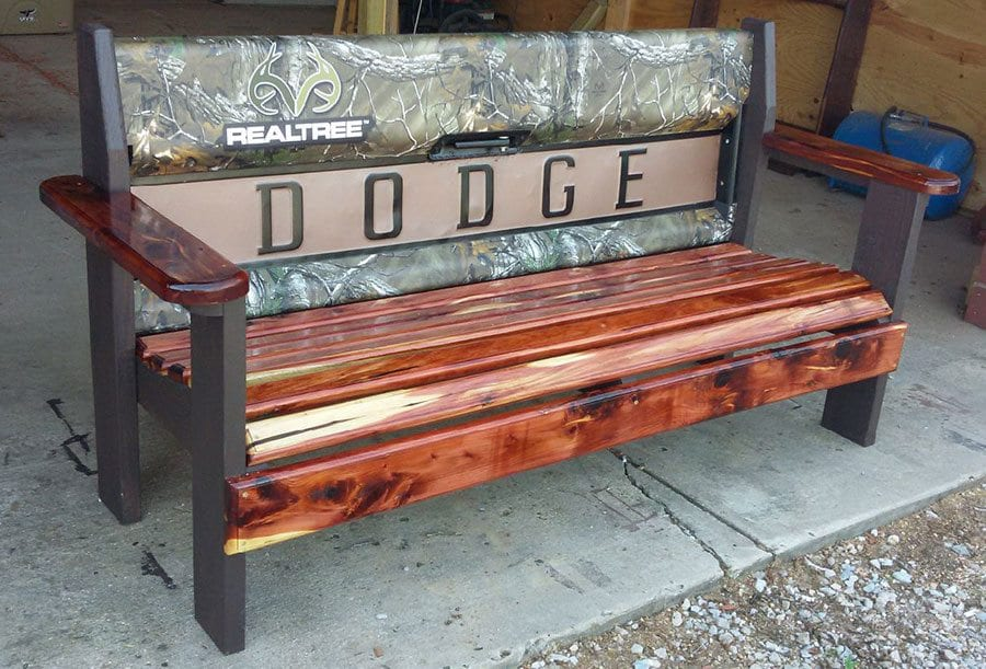 Dodge Bench donated by JD Cox