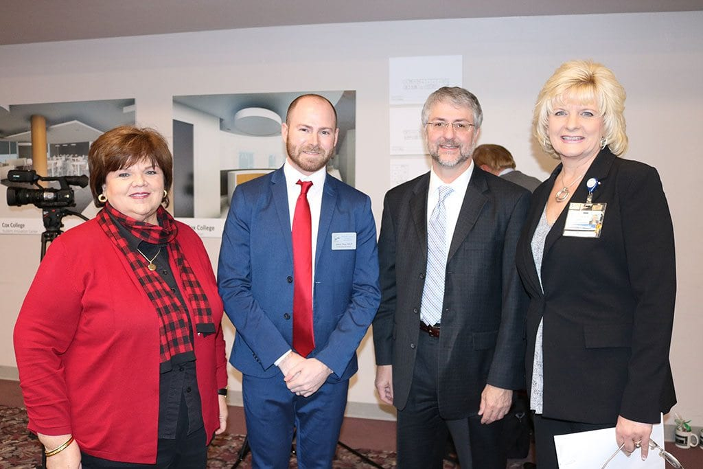 Pictured here: Jane Hood and Jason Ray from the Southwest Missouri Council of Governments, Steve Castaner, EDA and Lisa Alexander, CoxHealth Foundation president