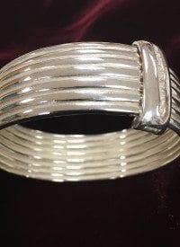 SLANE sterling silver cuff bracelet