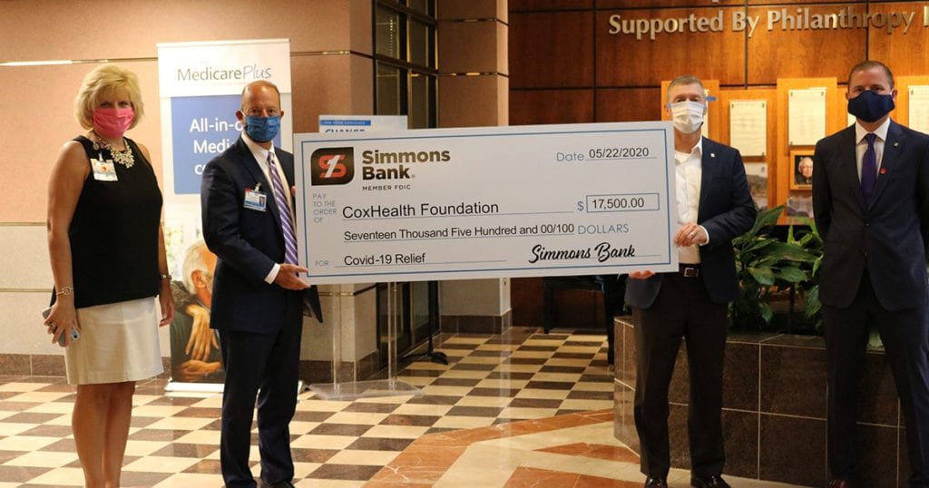 Simmons Bank donates $17,500 to COVID-19 Relief Fund