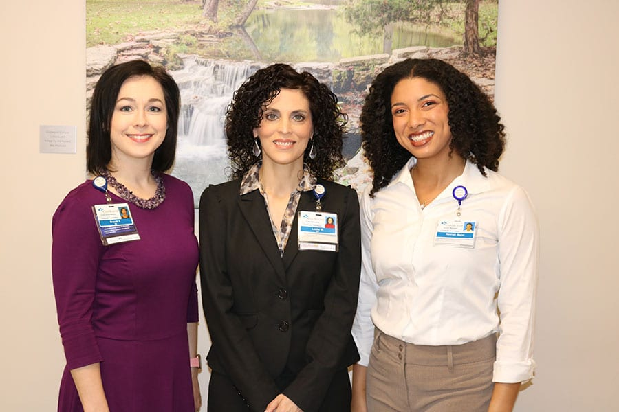 Pictured L-R: Brandi VanAntwerp, Grants Administrator, Leslie Manor, Grants Specialist, and Hannah Major, Grants Manager.