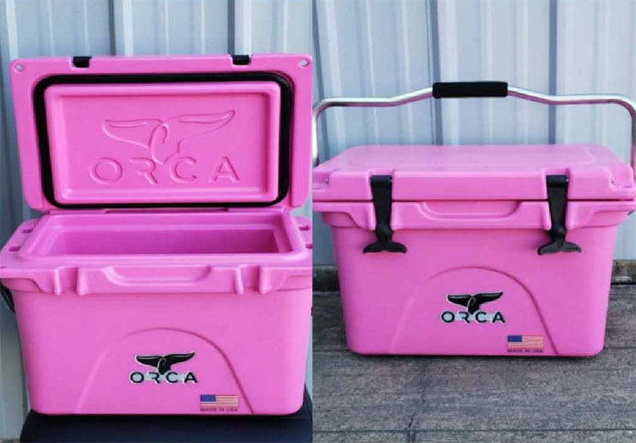 You can also purchase raffle tickets for a PINK ORCA COOLER, valued at $200!