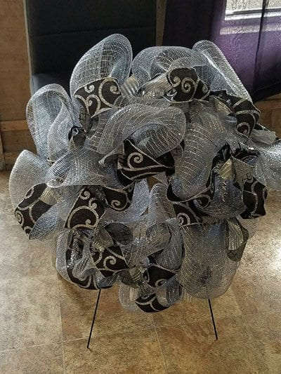 Grey Wreath donated by Michelle McDaniel