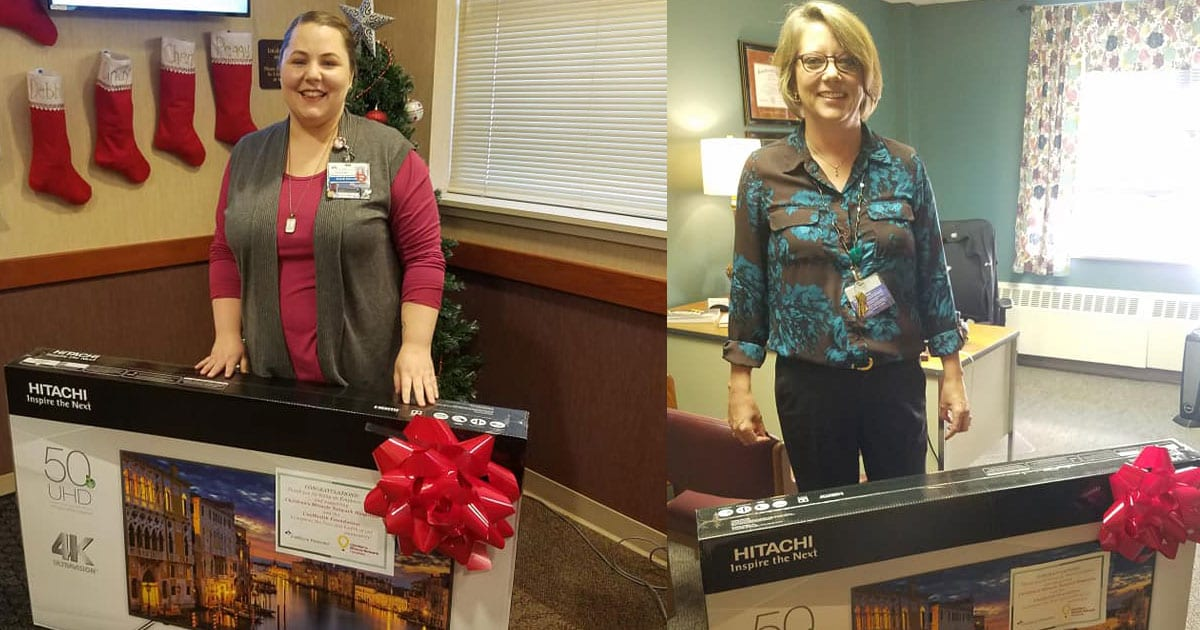See our two grand prize winners in this year's Employee Donor Grand Prize Drawing