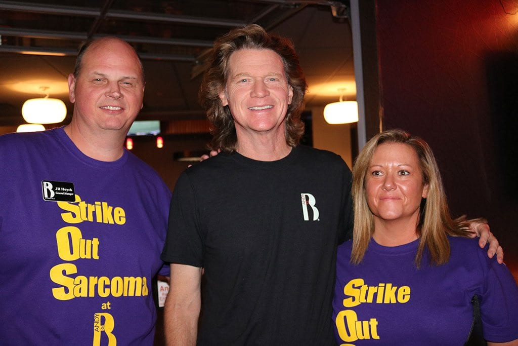 Strike Out Sarcoma was held this past Saturday at Andy B's Entertainment Center…wow! What a great time!